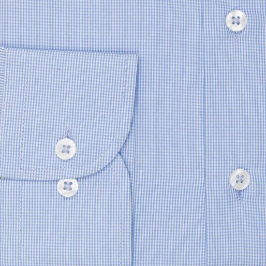 Camisa azul claro cuadro pequeño