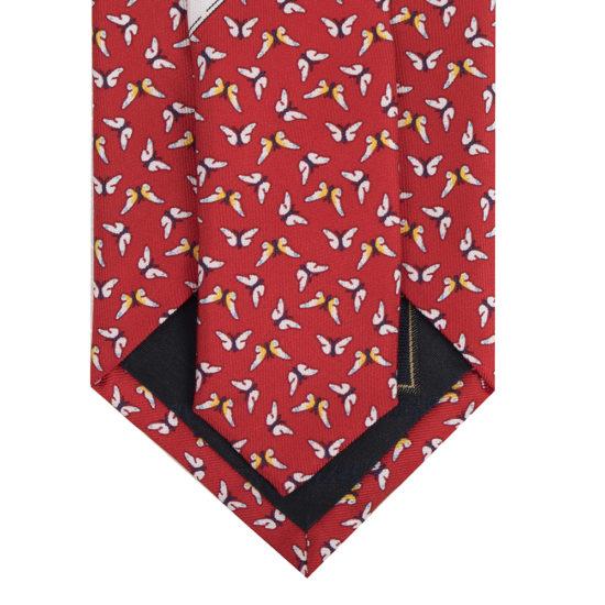 Corbatas lawrence seda rojo