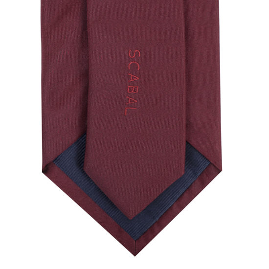 Corbatas scabal seda roja