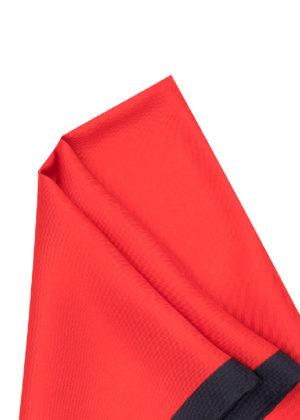 Pañuelo Marsanti rojo borde azul