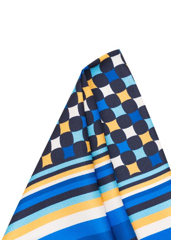 Pañuelo Marsanti estampado cuadros azul