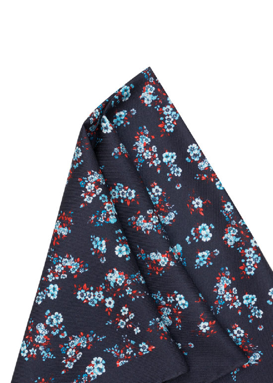 Pañuelo Marsanti Azul oscuro estampado