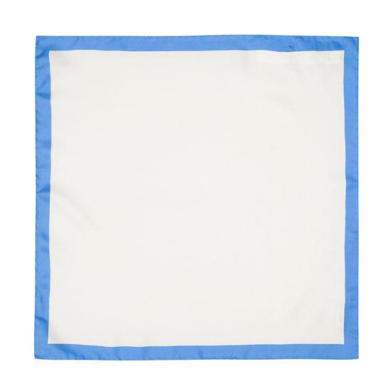 Pañuelo Marsanti blanco borde azul