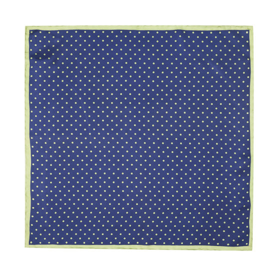 Pañuelo Marsanti azul borde verde
