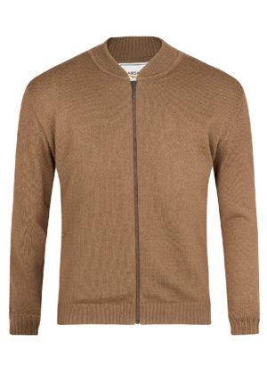 Suéter de cierre Jersey Beige
