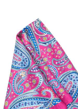 Pañuelo Marsanti magenta estampado